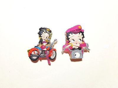 RETIRED ITEM BETTY BOOP PINS LOT #44 TWO PIECE LASER CUT SET