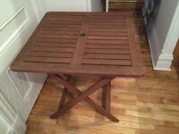 Table pour patio extérieur en bois 30 x 30