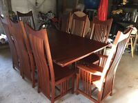 Amish cherrywood dining table