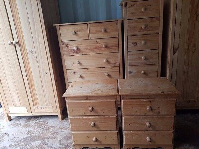 1x wardrobe, 1x drawer, 2x bedside cabinet