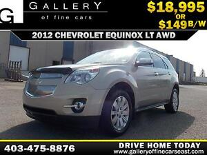 2012 Chevrolet Equinox LT AWD $149 bi-weekly APPLY NOW DRIVE NOW