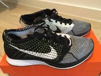 Nike Flyknit Racer, perfect for summer style or men running shoes, size 42 EUR, 26.5cm, UK 7.5
