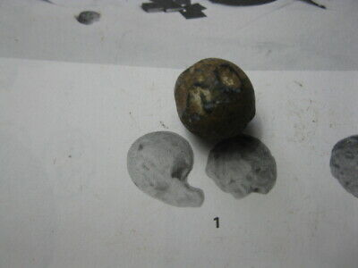DETECTING FINDS REVOLUTIONARY WAR  LARGE CHEWED MUSKET BALL LOYALIST SITE