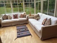 MULTIYORK 3 SEATER SOFAS - THE PAIR