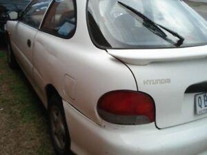 1999 Hyundai Excel X3 GLX White 5 Speed Manual Hatchback