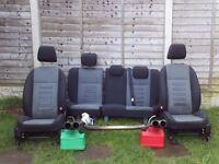 Ford Focus mk2 2005-2011 Zetec'S'-Spares-full cloth interior seats+piper quad dual exhaust back box