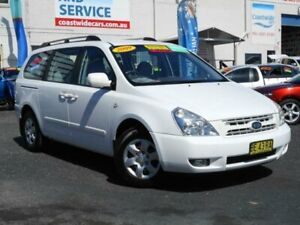 2009 Kia Grand Carnival VQ (EX) White 5 Speed Automatic Wagon Tuggerah Wyong Area Preview