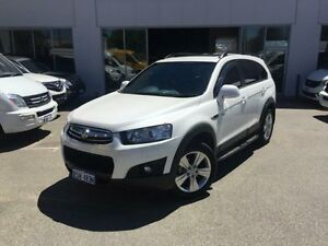 2013 Holden Captiva CG MY12 7 CX (4x4) White 6 Speed Automatic Wagon Beckenham Gosnells Area Preview