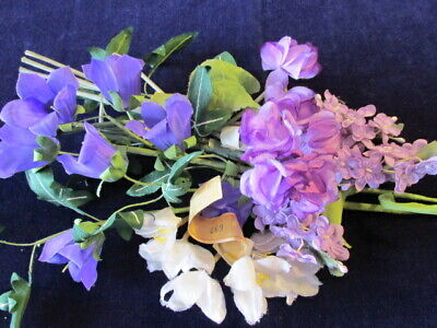 Vintage Millinery Flower Collection Purple Lilac 1-1 1/2