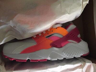 womens Nike Huarache Run Neu Damen Premium Sneaker Gr:38 white vivid pink  90 97 ()