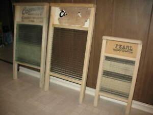 3 Vintage Wash Boards