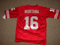 #16 JOE MONTANA VINTAGE 49ERS JERSEY IN RED SIZE LARGE