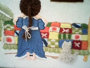 1950s Childs Prayer Embroidered Needlepoint