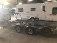 CAR TRAILER /TRANSPORTER; PRG SUPER SPORT 14. TYRE RACK.WINCH.SPARE WHEEL.LONG LOADING RAMPS.