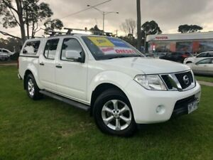 2013 Nissan Navara D40 S6 MY12 ST 4x2 White 5 Speed Sports Automatic Utility Ferntree Gully Knox Area Preview