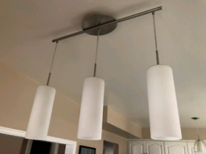 Kitchen lights and pull handles