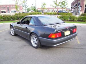 1992 Mercedes-Benz 500-Series Black Convertible