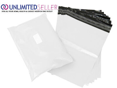 10 WHITE BAGS OF 17x24 INCH STRONG POLY MAILING POSTAGE POSTAL 55MU SELF SEAL