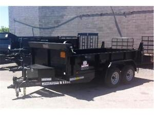 6X12 5 TON DUMP TRAILER LOADED W/FEATURES BUDGET PRICED