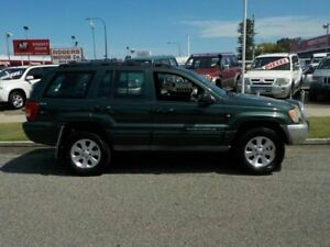 2001 Jeep Grand Cherokee WG Limited Green 5 Speed Automatic Wagon