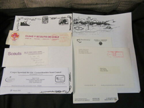 Boy Scout Letterhead, Stationery, Envelope, Etc. Lot      c63