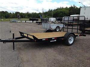 6X12 CANADA TRAILER SINGLE AXLE FLAT DECK UTILITY TRAILER - MESH