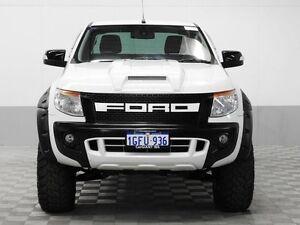 2013 Ford Ranger PX XLT 3.2 (4x4) White 6 Speed Automatic Super Cab Utility Jandakot Cockburn Area Preview