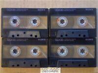 A2Z 4x RARE GUARANTEED SONY UCX 90 PREMIUM CHROME CASSETTE TAPES 1985 W/ CCLs & FREE P&P