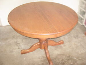 Solid Oak Table with Inserts