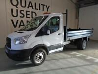 Ford Transit T350 2.2 Tdci 125Ps Tipper MWB DIESEL MANUAL WHITE (2015)