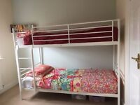 IKEA Svarta White Bunk Bed & Mattresses - £60 (can deliver in EK)