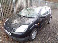 FORD FIESTA 1.2 PETROL 2003 4 DOOR BLACK 83,000 MILES M.O.T 1/06/18 SERVICE HISTORY GOOD CONDITION