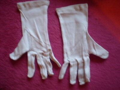 Weisse Handschuhe für CLOWN / GARDEOFFIZIER / FUNKEMARIECHEN / VAMPIR etc./  Neu