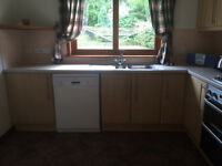 Kitchen Units and Major Appliances. No worktops. Very good condition.
