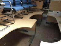 1600mm Curved Desk with Under Pedstal Package