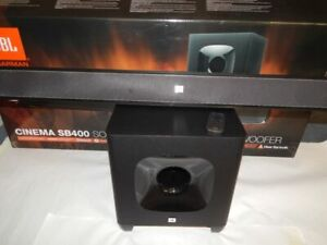 JBL Cinema SB400 Soundbar Sound Bar w Woofer - Black