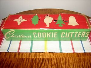 Vintage Aluminum Christmas Cookie Cutters in Original Box, Qty 5 Kitchener / Waterloo Kitchener Area image 7