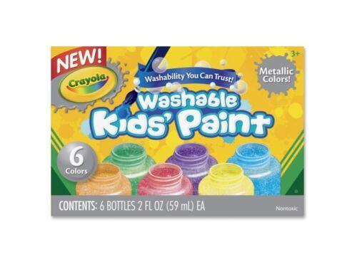 Crayola Ct Washable Metallic Paint Set