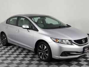 2013 Honda Civic Sdn EX w/Heated Seats-Sunroof-Back up Camera