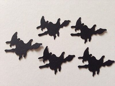 50 Halloween WITCH Black party table decorations WICKED theme confetti card - Halloween Themed Table Decorations
