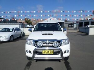 2015 Toyota Hilux KUN26R MY14 SR5 Double Cab White 5 Speed Manual Utility Young Young Area Preview