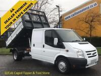 2011 61 Ford Transit 2.4TDCi 115 350 D/Cab Caged Tipper- Rear Tool store, DRW
