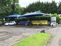 Carwash , canopy , container, carwash equipment.