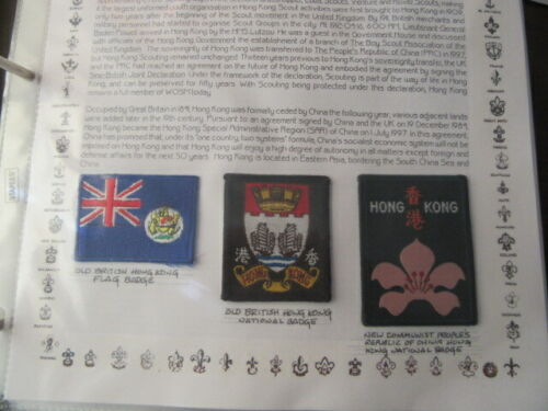 Hong Kong Lot of 9  Boy Scout Patches    c27