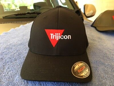 Trijicon Logo Embroidered Flexfit Ball Cap Hat Black Olive Navy S/M L/XL XL/XXL (Ball Cap Navy)
