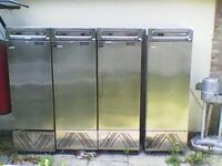 Three Commercial fosters stainless steel fridges