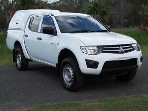2011 Mitsubishi Triton MN MY11 GLX Double Cab White 4 Speed Automatic Utility Stapylton Gold Coast North Preview