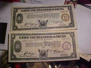 Two Neat Notes Hamtrack Michigan Great Colour And Designs!!! London Ontario image 1