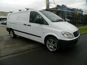 2007 Mercedes-Benz Vito 639 MY07 109CDI Extra Long White 6 Speed Manual Van Williamstown North Hobsons Bay Area Preview