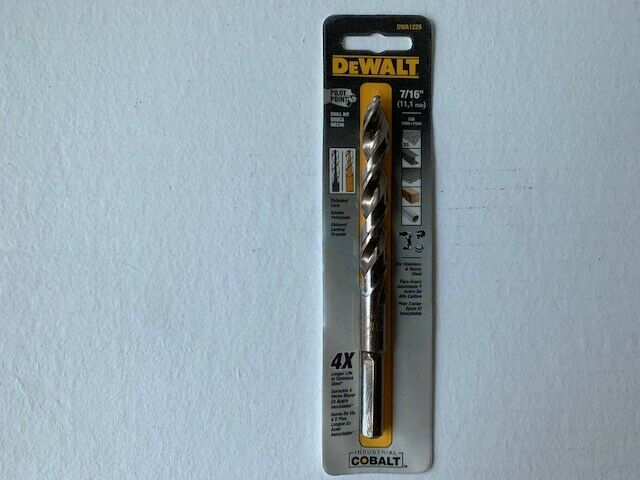 "DEWALT DWA1228 7/16"" Pilot Point Industrial Cobalt Drill Bit"